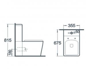 Vas wc Square duobloc + capac soft close inclus1