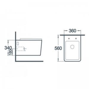 Vas wc suspendat Square cu capac soft close inclus1