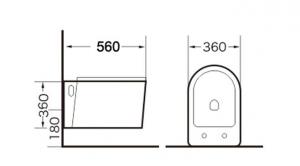 Vas wc suspendat Rimless cu capac soft close inclus1