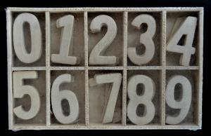 Cifre din lemn 3,5 cm