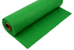 Rola fetru verde iarba 1mm grosime