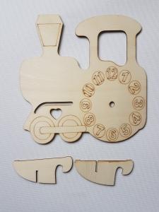Cadran ceas din lemn - Locomotiva