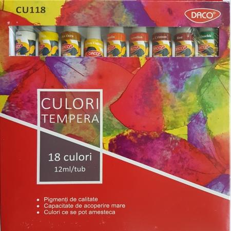 18 culori tempera