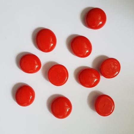 Cabochon sticla - Rosu