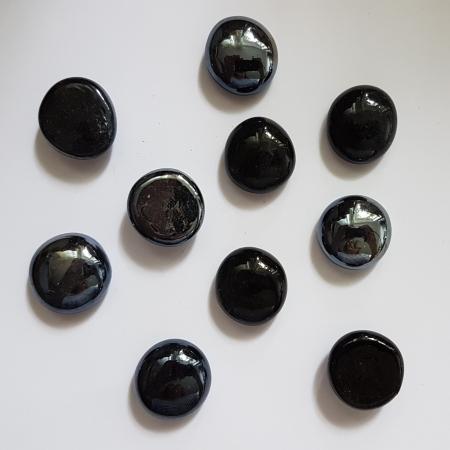 Cabochon sticla- Negru