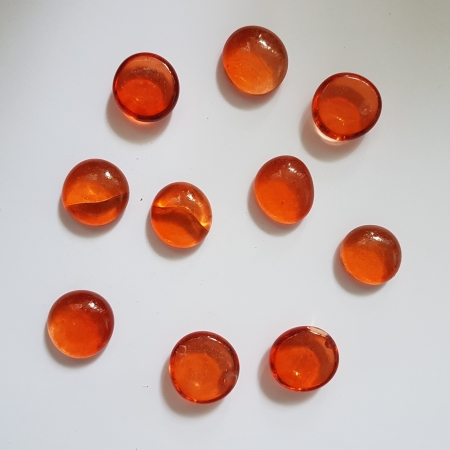 Cabochon sticla - Orange