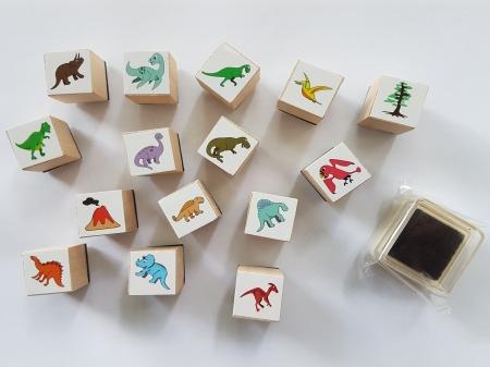 Stampile cu model dinozaur