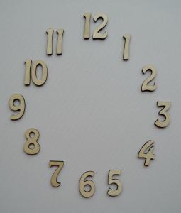 Cifre arabe din lemn pentru ceas