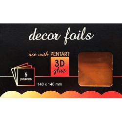 Folie decor metalizat bronz