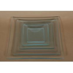 Platou sticla patrat 15x15 cm