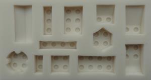 Mulaj din silicon, forme LEGo