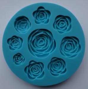 Mulaj din silicon - trandafir - 9 dimensiuni