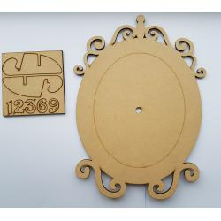 Cadran ceas oval din mdf
