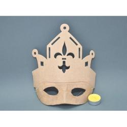 Masca carton presat rege