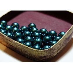 Perle 8 mm (30 buc/set) turcoaz inchis