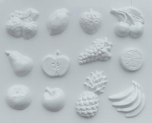 Forme pentru turnat ipsos, ghips, pulbere ceramica fructe