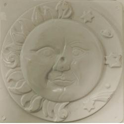 Forma pentru turnat ipsos (ghips) soarele si luna