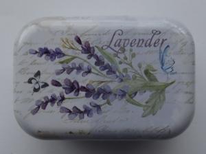 Cutie decorativa din metal, lavender 3