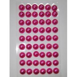 Perle jumatati AA. 6 mm(140 buc) magenta