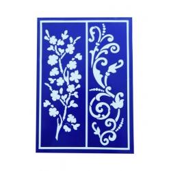 Sablon flexibil autoadeziv - Floral