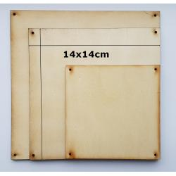 placute lemn 14x14cm perforate la colturi