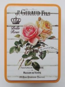 Cutie decorativa din metal, roses