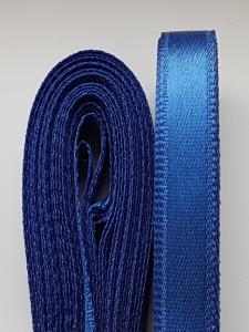 Saten albastru inchis 20 mm/10 m
