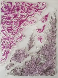 Stampila silicon - Colturi florale