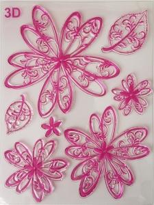 Stampila silicon - Flori fantezie