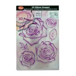 Stampila silicon - Trandafiri
