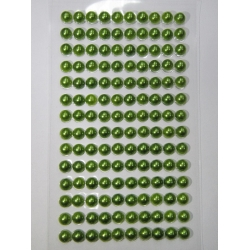 Perle jumatati AA. 6 mm(140 buc) verde mar