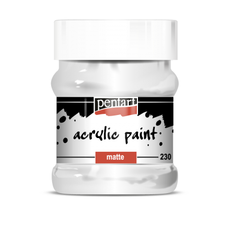 Vopsea Acrilica Mata alb (230 ml)