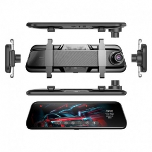 "CAMERA VIDEO AUTO TIP OGLINDA DUBLA, ANYTEK T12+, DISPLAY 9.66"" TOUCH SCREEN, NIGHT VISION, DASH CAM, DUAL LENS12"