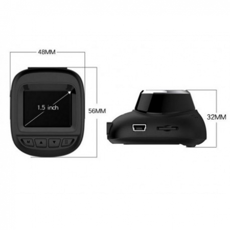 "CAMERA VIDEO AUTO DVR MINI FULLHD TECHSTAR® RL-127, DISPLAY 1.5"", UNGHI 150° CU PARKING MODE, SENZORI DE MISCARE SI NIGHT VISION"
