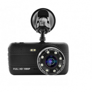CAMERA VIDEO AUTO NOVATEK T800 DUBLA 8 LED-URI INFRAROSU FULL HD