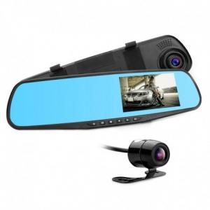 CAMERA VIDEO AUTO TIP OGLINDA CU DOUA CAMERE FULL HD FATA/SPATE ALLWINNER L9000