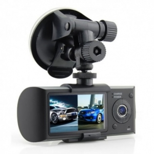 CAMERA VIDEO AUTO SW R300 DUAL-CAM CU GPS LOGGER0