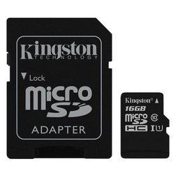 Card de Memorie Kingston Canvas Select microSDXC 16GB + Adaptor SD