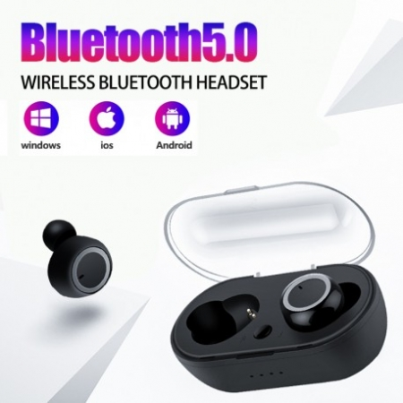 CASTI BLUETOOTH WIRELESS TWS EARBUD CU TEHNOLOGIE BLUETOOTH 5.0 ALB