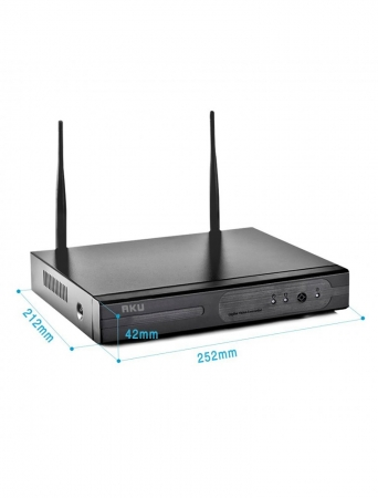 Kit supraveghere wireless 4 camere IP rezolutie CLEAR HD 1 MP infrarosu 25m