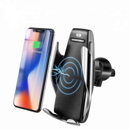 SUPORT INCARCATOR TELEFON AUTO SMART TECHSTAR® S5 WIRELESS INFRAROSU 360° FAST CHARGE UNIVERSAL ANDROID SI IOS 4 - 6.5 INCH