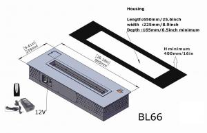 Semineu bioetanol BL66 - mare, cu telecomanda