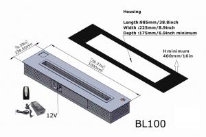 Semineu bioetanol BL100 - extra-large, cu telecomanda5