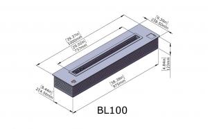 Semineu bioetanol BL100 - extra-large, cu telecomanda4