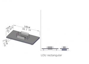 Semineu bioetanol LOU - 4 variante culori, 2 variante dimensiuni