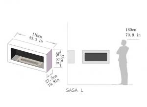 Semineu bioetanol SASA - 3 variante culori, 3 variante dimensiuni