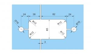 Set 2 balamale hidraulice Tensor sticla/sticla