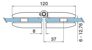 Balama portita balustrada sticla/sticla