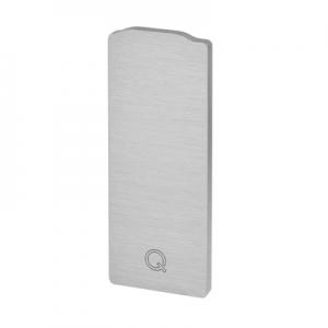 Capac capat profil U balustrada Easy Glass® Eco, fixare pardoseala0