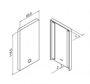 Capac capat profil U balustrada Easy Glass® Smart fixare pardoseala